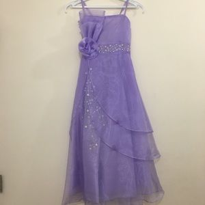 Other - Girls Formal Lilac Dress | Includes Shawl